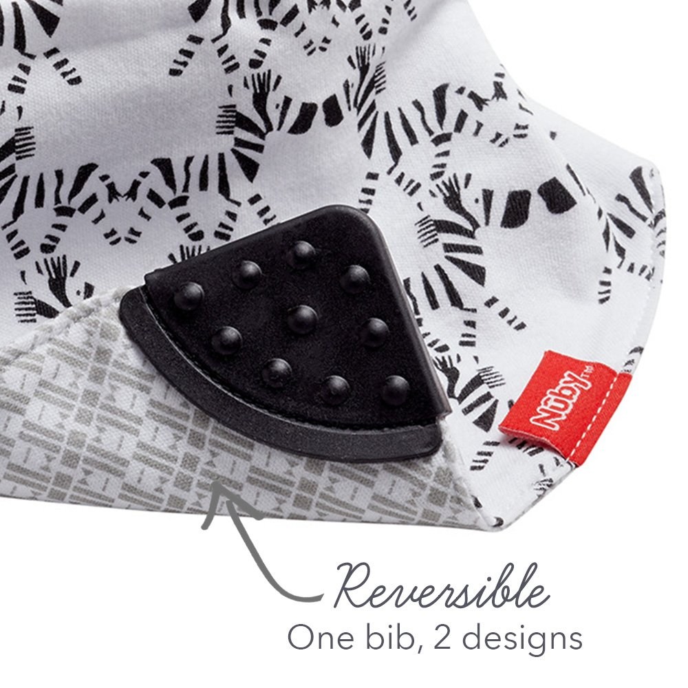Planes//Owls Reversible Pack of 2 Nuby UK Bandana Teething Bibs