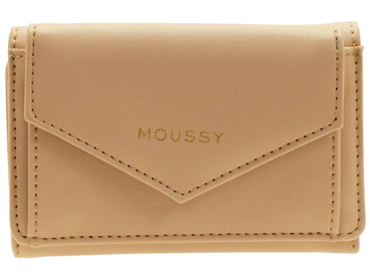 (マウジー) moussy 財布 三つ折り 折財布 ミニウォレット 合成皮革 GISELE M3 TRIFOLD WALLET m01200003 B07CJXZ5BW ベージュ ベージュ