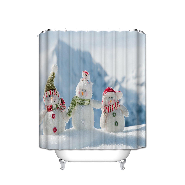 FANNEE Weihnachten Hintergrund mit Schneemann Polyester-Schimmel ...