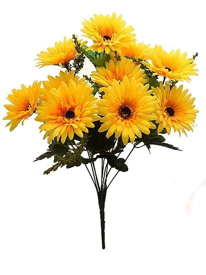 Buy Fourwalls Artificial Synthetic Gerbera Flower Bunch 10 Flowers