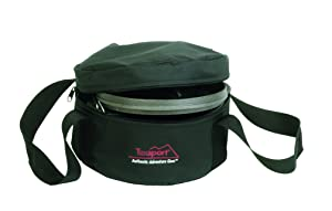 "Texsport 2 Quart (10"") Dutch Oven Carry/Storage Bag - Rugged Waterproof Polyester, Sturdy Web Handles & Zippered Top Opening - Foam Padded for Maximum Protection & Storage, Black"