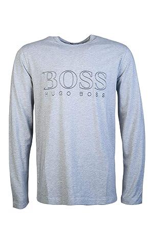 754d4f9b4 Amazon.com: Hugo Boss Green Men's Togn US Cotton Grey Long Sleeve T-Shirt M  Grey: HUGO BOSS: Clothing