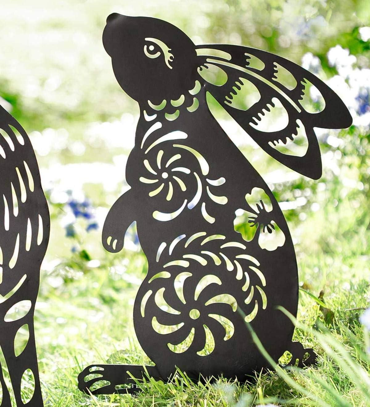 Wind & Weather Metal Animal Silhouette Garden Stake - Bunny