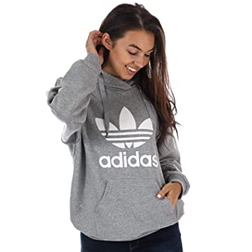 70b208a0bf0 adidas Women s Trefoil Hoodie Sweatshirt  Amazon.co.uk  Sports ...