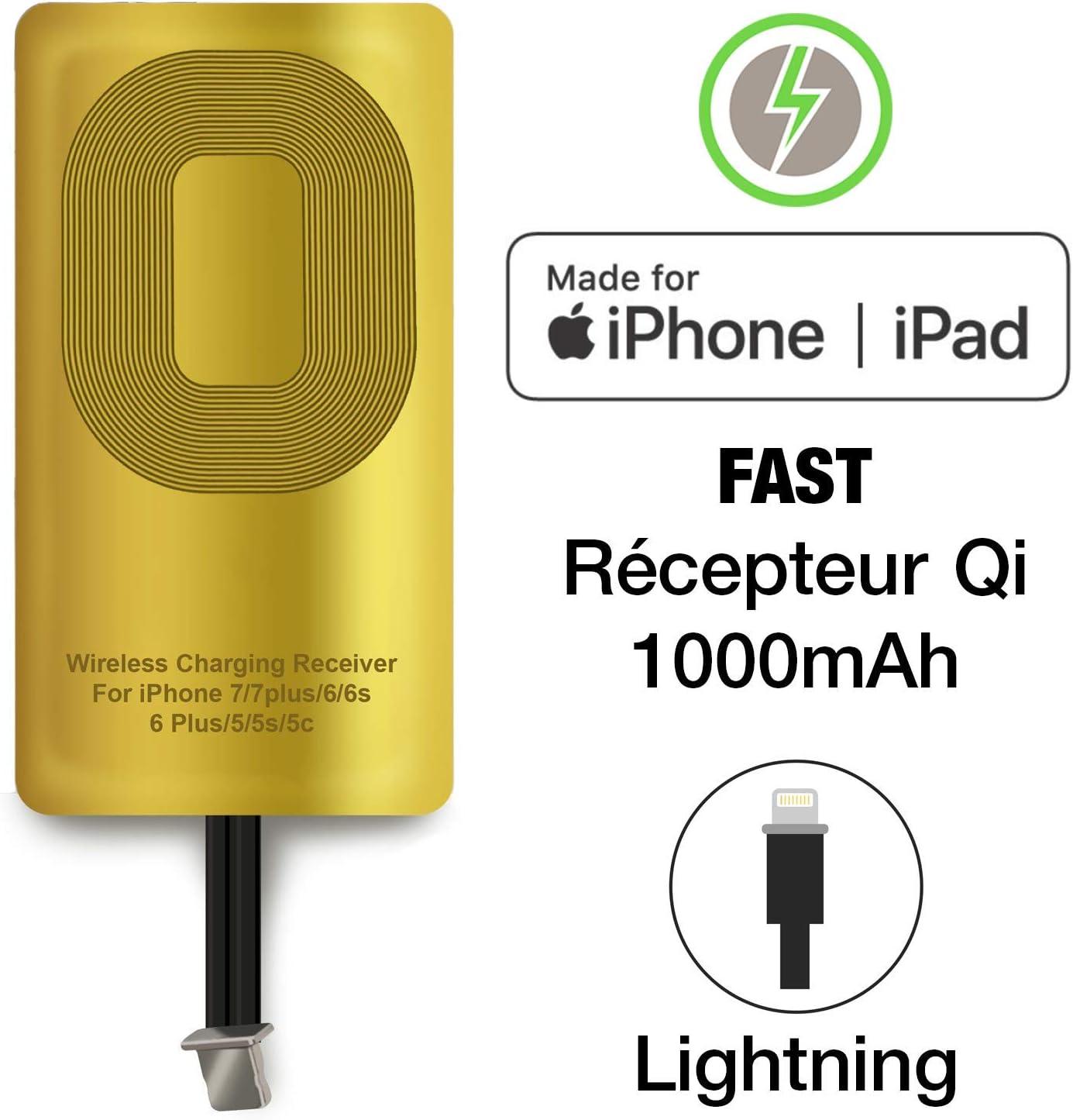 Nillkin R/écepteur de Chargeur sans Fil Chargeur R/écepteur sans Fil pour iiPhone 7//7 Plus//iPhone 6//6 Plus//iPhone 5//5s