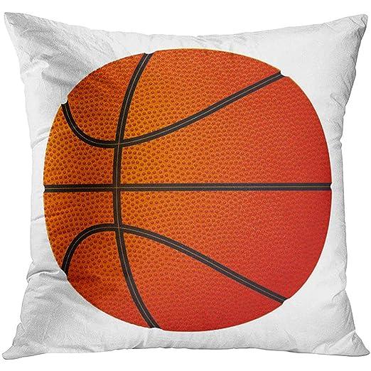 nomonoq Funda de cojín Naranja Negro Balón de Baloncesto ...