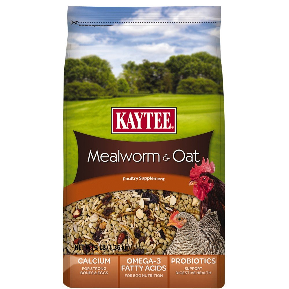 Kaytee Mealworm and Oat Supplement for Chickens