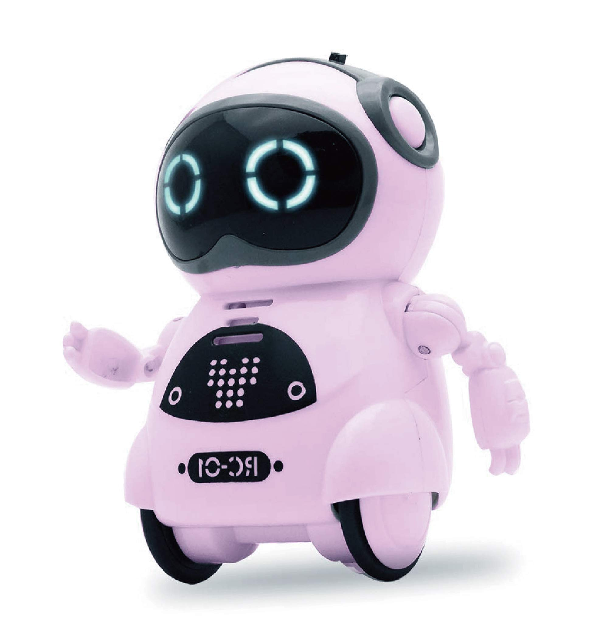 SPACE LION Educational Mini Pocket Robot for Kids Interactive Dialogue Conversation,Voice Control, Chat Record, Singing & Dancing-Pink by SPACE LION (Image #1)