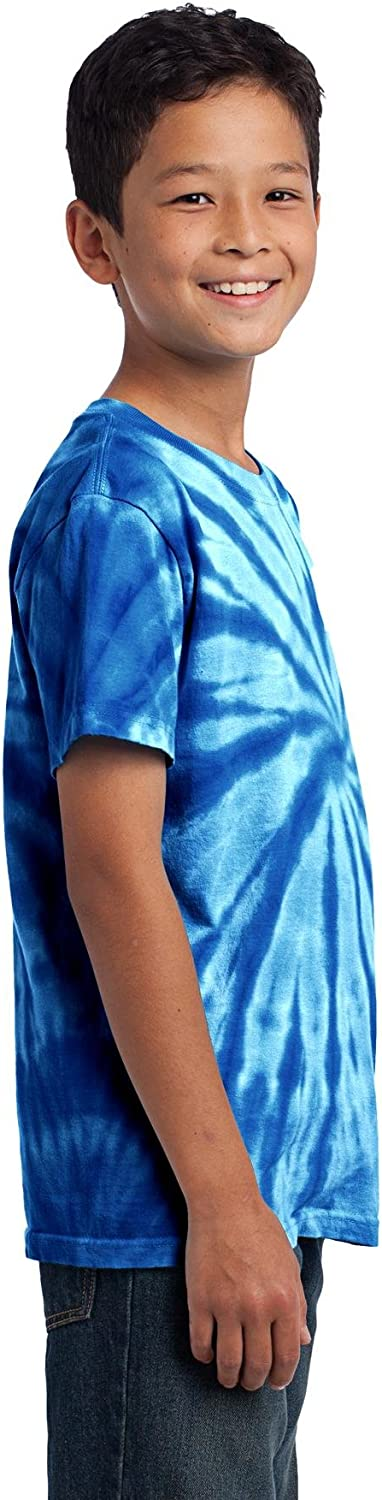 Port /& Company Boys Essential Tie Dye Tee