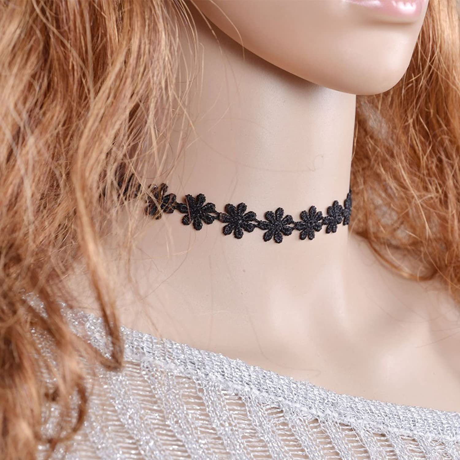 christmas choker concave dazzling hot diamond fashion collar simple visual jewelry neck item imitation surface necklace bright