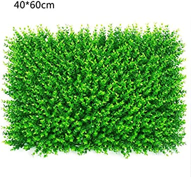 TTIK Planta De Setos Artificiales, Plástico Césped Falso Planta Verde Cobertura, Decoración De La Cerca Privacidad del Jardín, 6 Piezas De 15