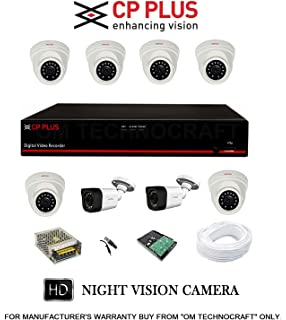 Buy cp plus 8 hd cctv cameras and 8ch hd dvr kit with 2 tb hard cp plus 8 channel dvr kit with 2 tb hard drive 6 13 mp fandeluxe Image collections