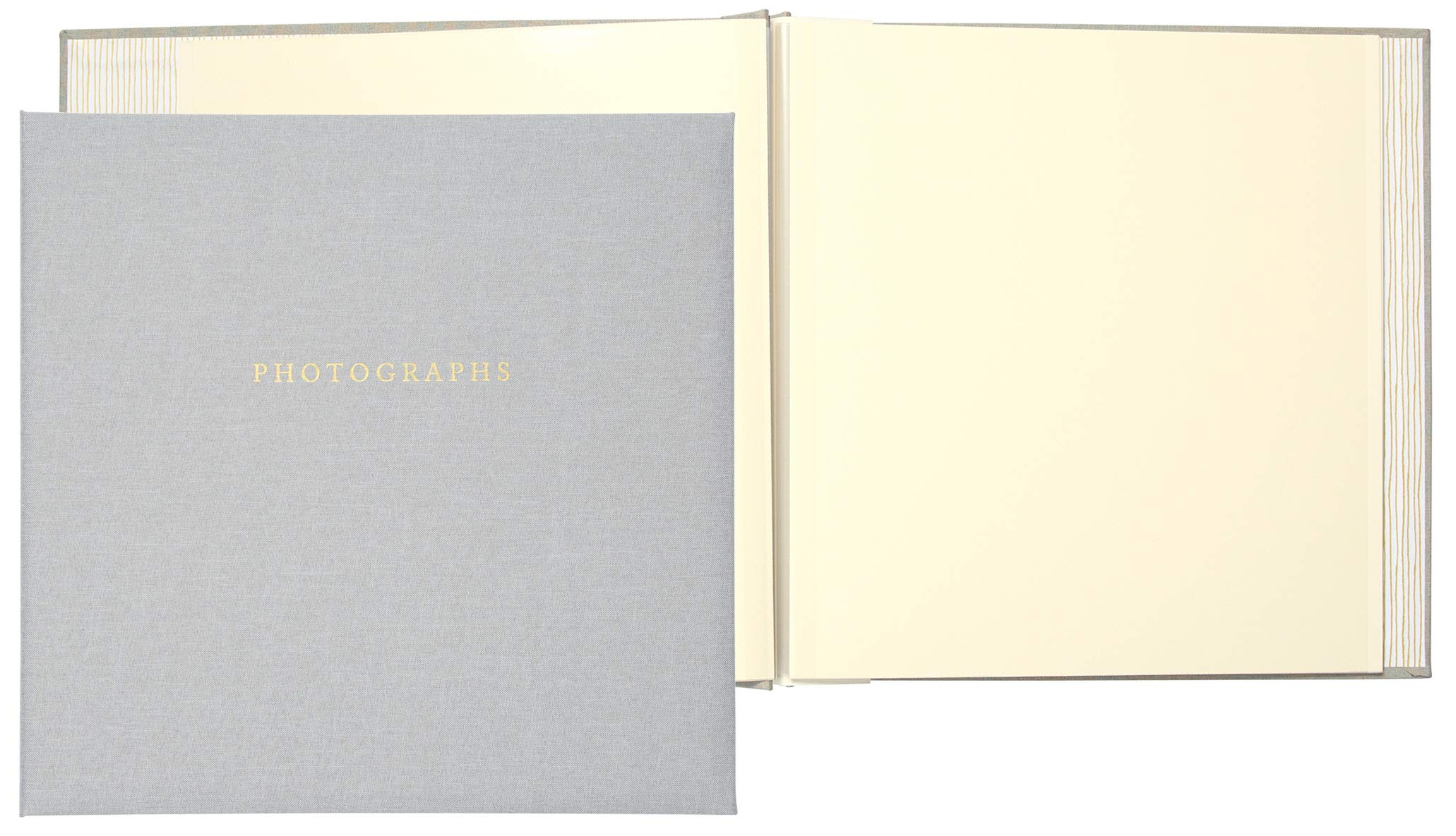 C.R. Gibson Gray ''Photographs'' 1-Up Magnetic Memory Book and Photo Album, 16 Pages, 13.6'' W x 13'' H
