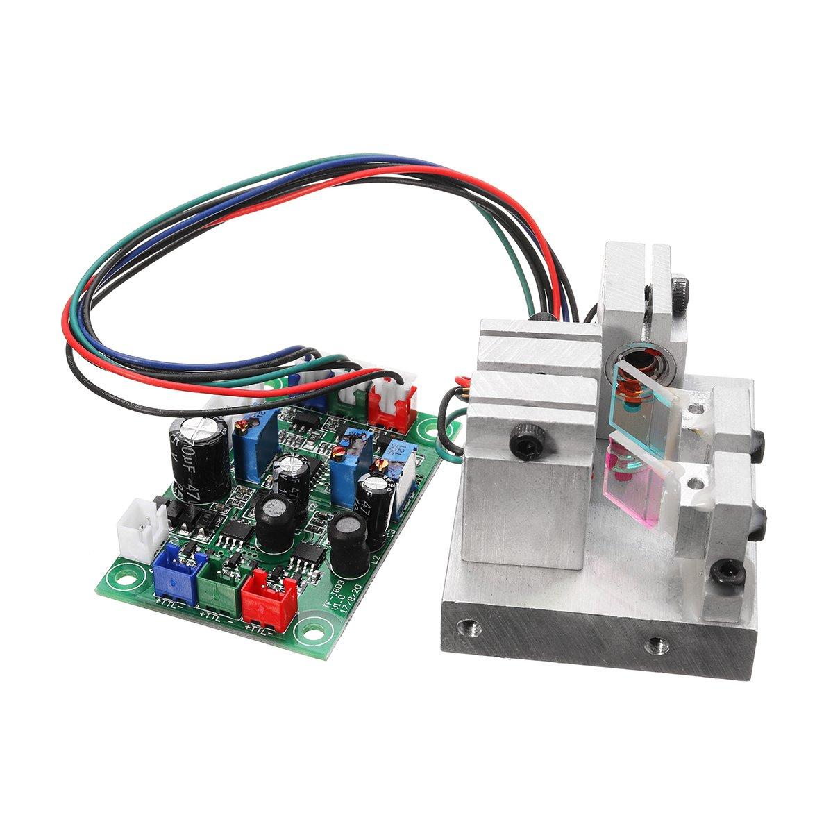 RGB 300mW White Laser Dot Module Red Green Blue 638nm 520nm 450nm TTL Driver Modulation