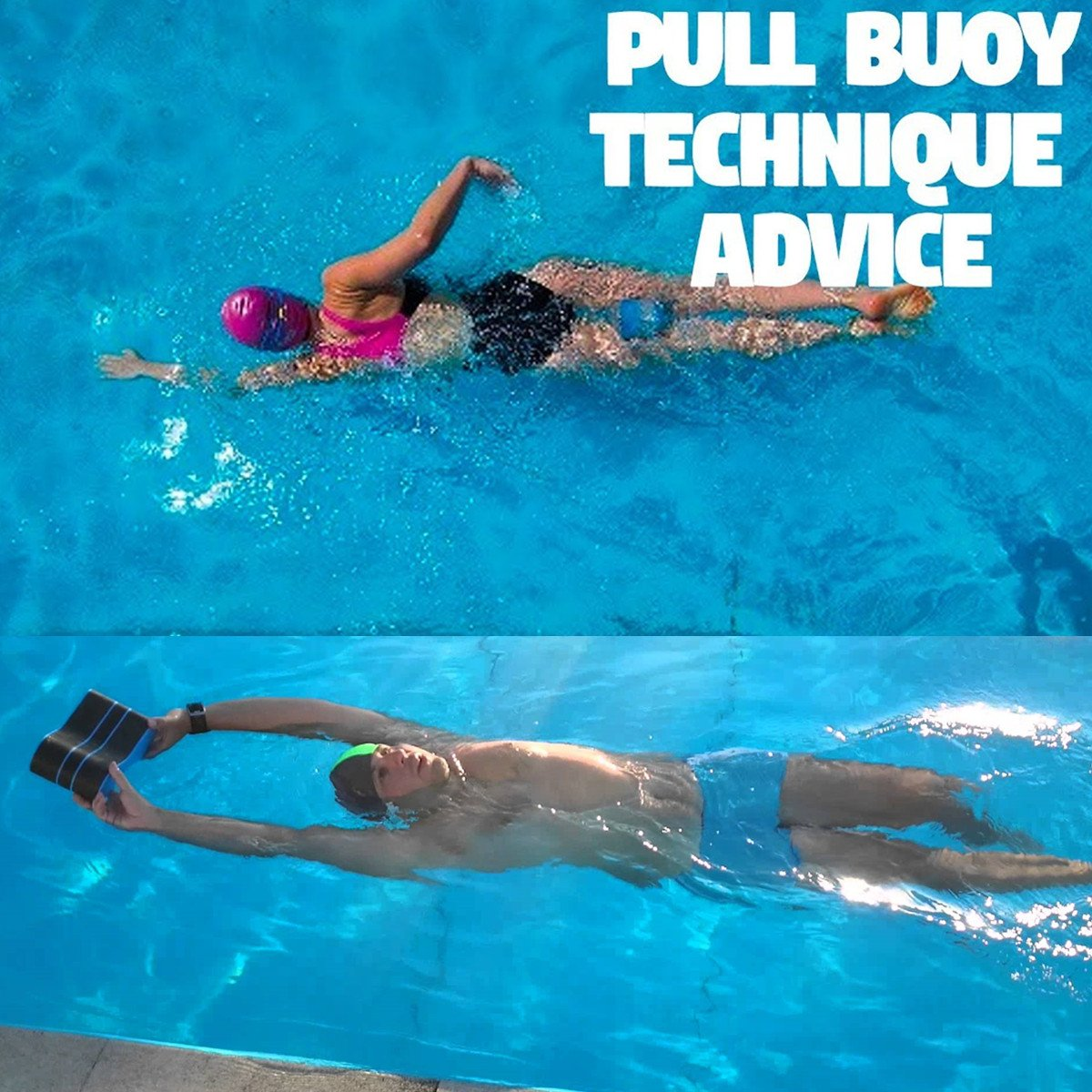 Verisa Pull-Buoy-Schwimmhilfe, aus Schaumstoff, verbessert Schwimmhaltung und stärkt die Armmuskulatur, Schwimm-Trainings-Hilfe, für Erwachsene Senioren Kinder, Blau