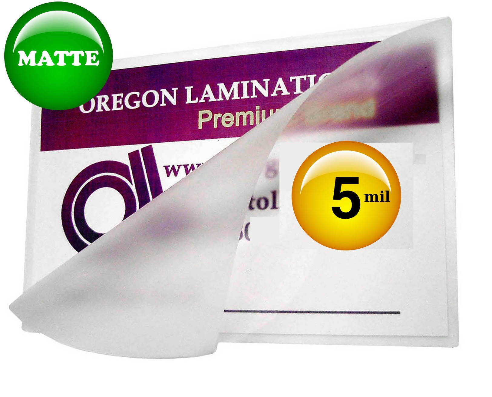 Oregon Lamination Hot Laminating Pouches Letter (pack of 100) 5 Mil 9 x 11-1/2-inch Matte/Matte
