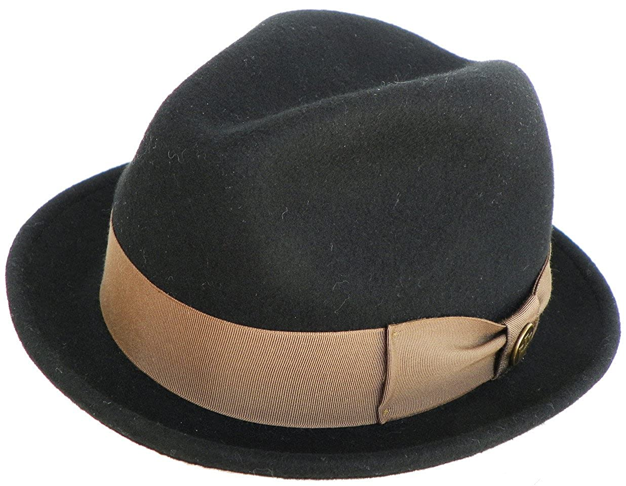 2c4bcc41160bb Goorin Bros Made in USA Blake Cadell Wool Felt Snap Brim Fedora Trilby at  Amazon Men s Clothing store
