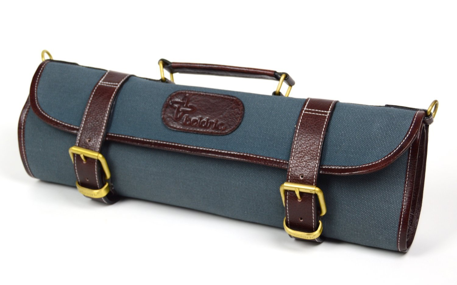 Boldric 9 pocket Canvas Roll Knife Bag Abalone
