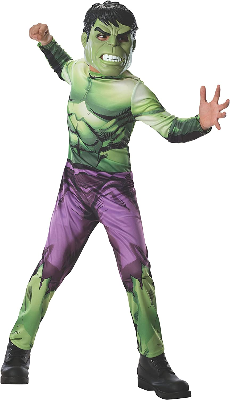 Disfraz de Hulk Marvel Vengadores para niño - 8-10 años: Amazon.es ...