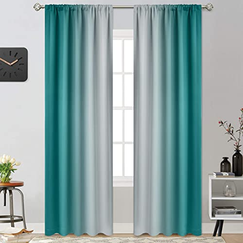 Yakamok Room Darkening Gradient Color Ombre Curtains - a good cheap window curtain panel