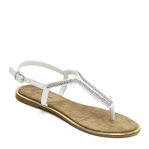 Prendimi Scarpe&Scarpe - Sandalias bajas modelo Chancla con Estrás - 40,0,  Blanco: Amazon.it: Scarpe e borse