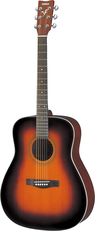 Yamaha F370 Guitarra Acústica Guitarra Folk 4/4 de madera, escala 634 mm, 25 pulgadas, 6 cuerdas metálicas, Color Marrón (Tobacco Brown Sunburst)