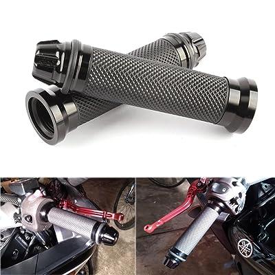 "Custom Motorcycle Sport Bike CNC Aluminum 7/8"" 22mm Handlebar Rubber Gel Hand Grips For Chopper Cruiser Bike: Automotive"