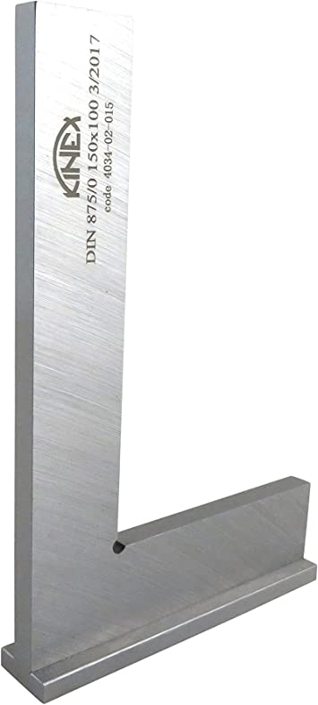 """Kinex 4033-02-007 3 Tall x 2 Wide Flat Solid Machinist Square DIN 875//0 Square to w//in 0.0002/"""""""