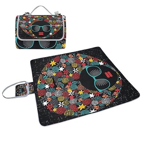 COOSUN Hippie - Manta de picnic con cabeza negra para mujer ...
