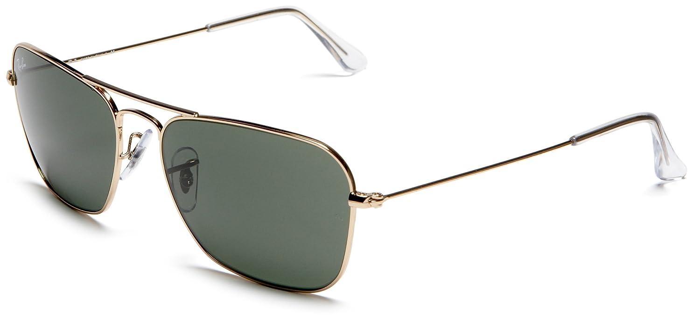 16d1dd27cdc Ray-Ban CARAVAN - ARISTA Frame CRYSTAL GREEN Lenses 58mm Non-Polarized   Amazon.com.au  Fashion