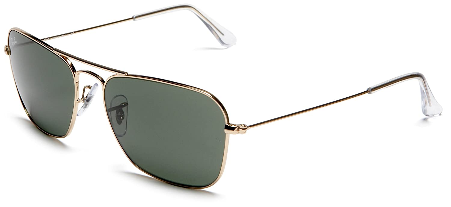 b3a7b5d97a12f Amazon.com  Ray-Ban CARAVAN - ARISTA Frame CRYSTAL GREEN Lenses 58mm  Non-Polarized  Ray-Ban  Clothing