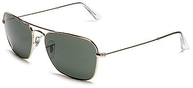 b861f8cfbead Amazon.com: Ray-Ban RB3136 Caravan Square Sunglasses, Arista Gold ...