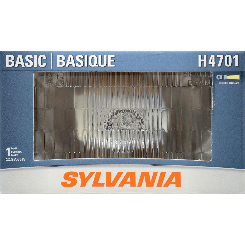 Amazon.com: SYLVANIA H4701 Basic Halogen Sealed Beam Headlight 92x150, (Contains 1 Bulb): Automotive