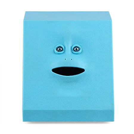 AOZBZ Piggy Bank Automatic Eat Coin, Face Design Money Box Plastic Coin  Bank Container Safe Saving Cash Home Decoration