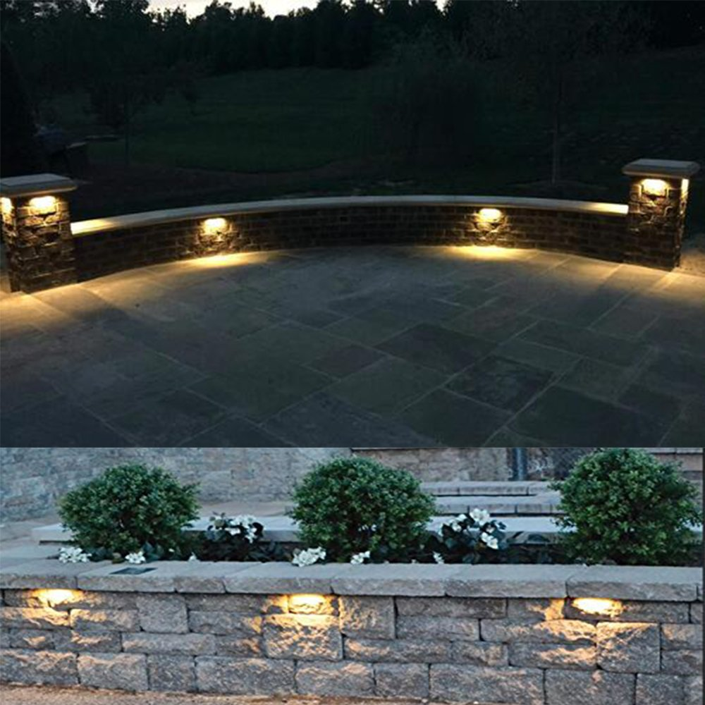 Arrownine New Hardscape Lighting 5Watt 6.2-Inch 2700K Hardscape Deck Step and Bench Lights with Mounting Bracket Black Color Finish