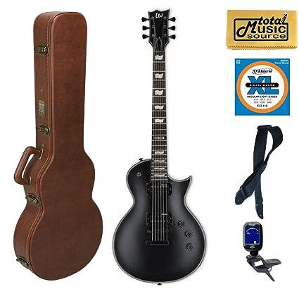 Esp Ltd EC-256 de la serie CE Guitarra eléctrica, Negro satinado, Cali