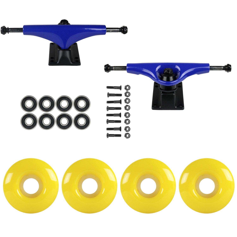 スケートボードパッケージHavocブルー5.0 Trucks 51 mmネオンイエローABEC 7 Bearings   B01IFAK2KO