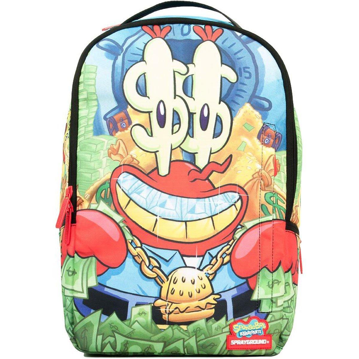sprayground spongebob money krabs 2 0 amazon co uk luggage