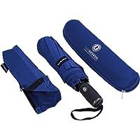 Regenschirm Sturmfest I kompakter Taschenschirm VAN BEEKEN – windfest bis 140 km/h, wasserabweisend, klein, leicht – Stabiler Schirm mit voll-automatischer Auf Zu Automatik, 95 cm