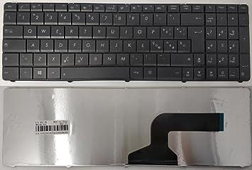 Teclado con disposición italiana para ordenador portátil Asus X54H, X53S, A54H, X55A, X55 C: Amazon.es: Informática