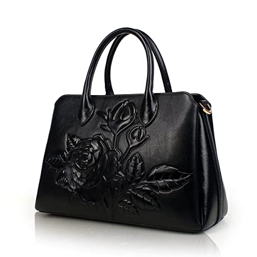 408d1c918dbf APHISON Designer Unique Embossed Floral Cowhide Leather Tote Style Ladies  Top Handle Bags Handbags 22618 (