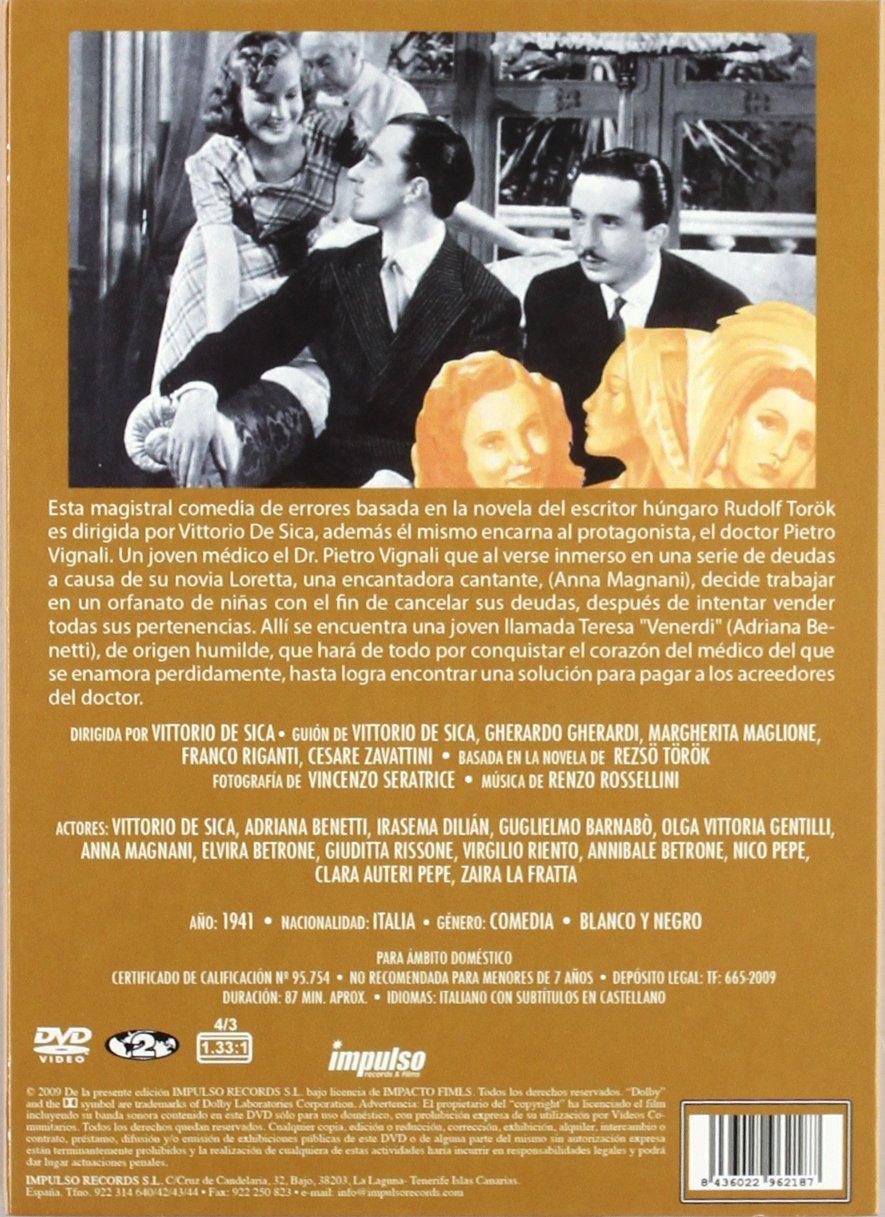 Nacida En Viernes [DVD]: Amazon.es: Vittorio De Sica, Adriana Benetti, Irasema Dilián, Guglielmo Barnabó, Olga Vittoria Gentilli, Anna Magnani, ...