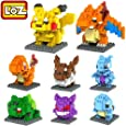 LOZ 8box Diamond Block Pokemon Pikachu Squirtle Bulbasaur Eevee Charmander Charizard Gengar Mewtwo 1180pcs Parent-child Games Building Blocks Children's Educational Toys
