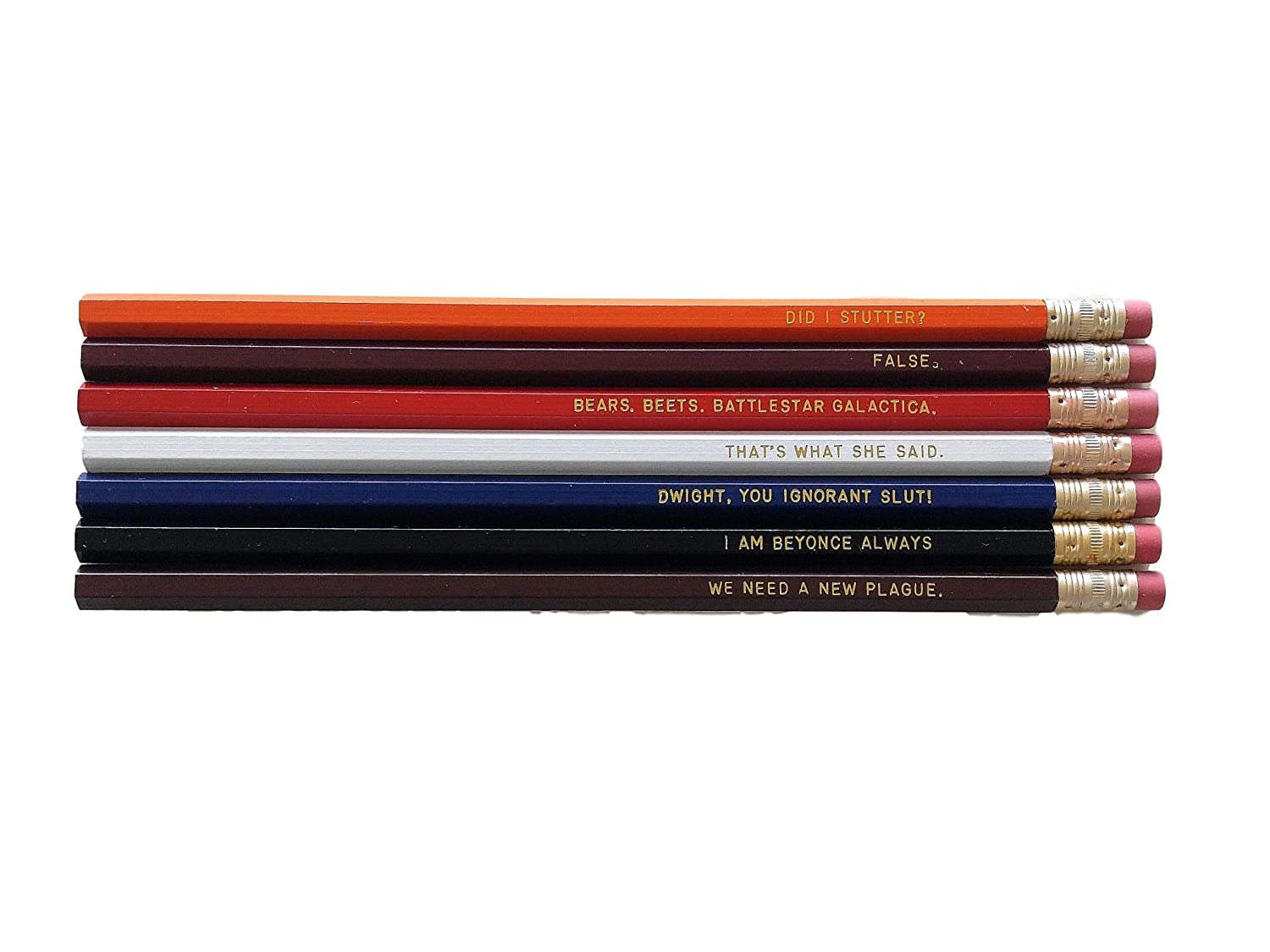 The Office TV Show Pencil Set with Quotes Back To School Funny Pencils Student Gift