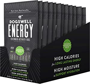 Dogswell Energy Wet Endurance Treats to Boost Performance in Active Dogs, Single Serve Tubes