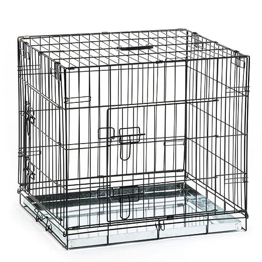 Beeztees Jaula Transportín para Perros Mascotas 63x55x61 cm Metal ...