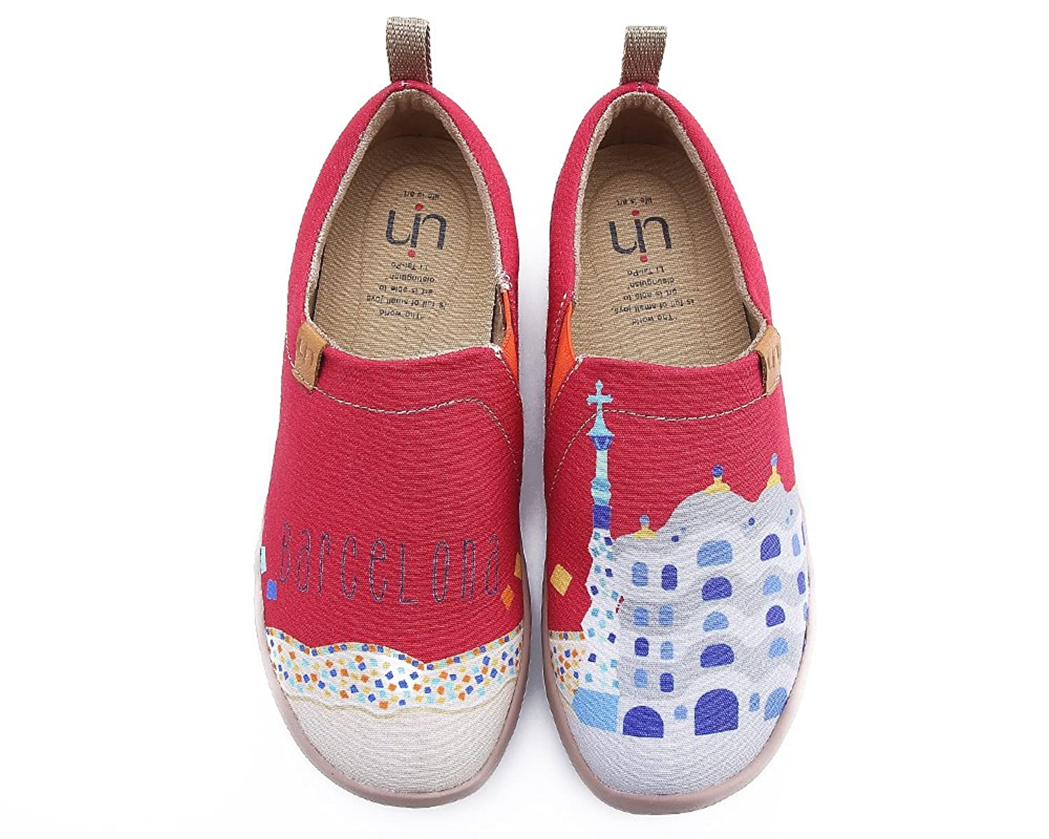 UIN Women's Castle Cute Painted Canvas Shoes Red B07CVJ9VCD 8.5 M US