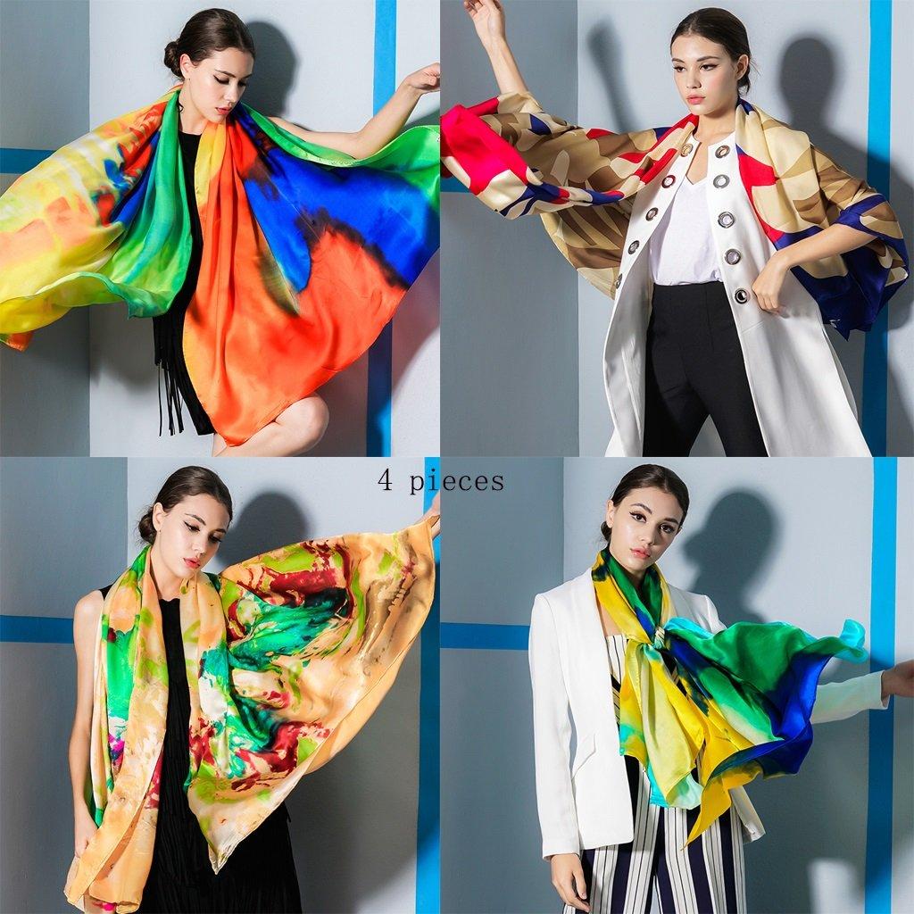 GAODUZI バラエティ女性のシルクスカーフ春と秋野生の苔シルクスカーフ夏のショール ( 色 : H h ) B07C51W1C3 H h H h