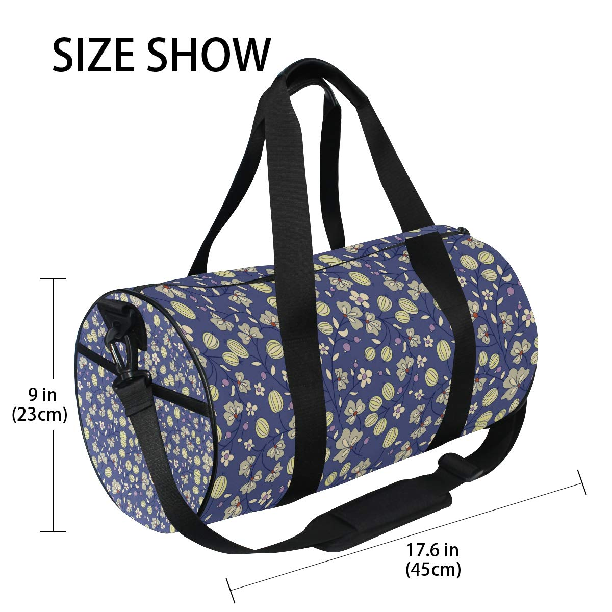 Waterproof Non-Slip Wearable Crossbody Bag fitness bag Shoulder Bag Fruit Tree Picture