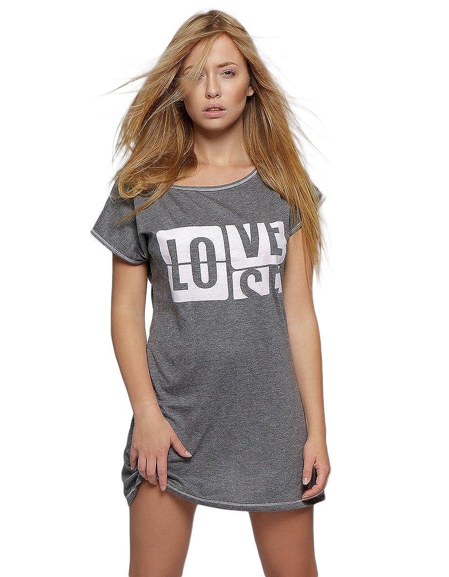 Sensis Camicia da notte in cotone di qualità superiore con stampa trendy, made in EU